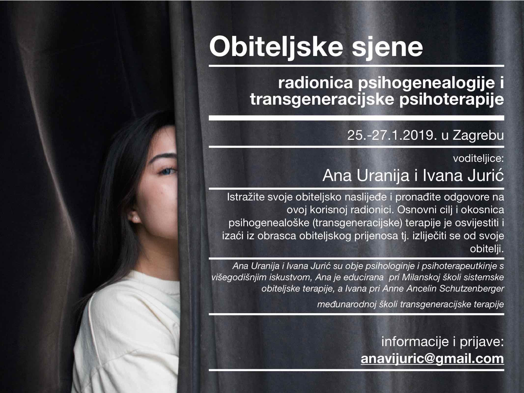 Obiteljske Sjene (III) – Radionica Psihogenealogije I Transgeneracijske Psihoterapije
